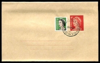 Lot 1034:1966-80 QEII Decimal BW #W31 4c red, uprated with 3c Coil, CTO'd with 'G.P.O. MELBOURNE- C.1./20AP67'
