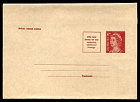 Lot 707:1970-71 6c Red BW #W34, fresh unused