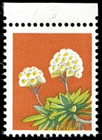 Lot 786:1975-78 Wildflowers BW #725c 18c marginal single Black omitted, small tear in margin Cat $60.