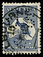 Lot 189:2½d Indigo - BW #11b perf 'OS', Cat $60.