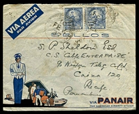Lot 3616:1937: (Feb 10) use of 2,000R pair on Pannair cover to CS Cable Enterprise in Recife.