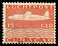 Lot 18946:1947 Airmail SG #280 15g orange-red, Cat £120.