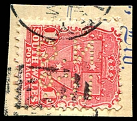 Lot 917:North Queensland Insurance Co: 'NQ/ICO' #NCIQO.1, on 1d Arms.