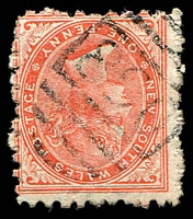 Lot 5909:890: 1st type BN on 1d red DLR.  Allocated to Edgecliff-PO 16/7/1877.