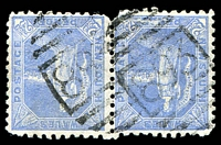 Lot 5437:893: BN on 2½d Allegorical pair.  Allocated to Smith Town-PO 1/9/1877; renamed Smithtown PO c.1881.