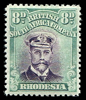 Lot 4517:1922-24 Admirals Double Plates Head Die III Perf 14 White Paper SG #296 8d mauve & pale blue-green, Cat £40.