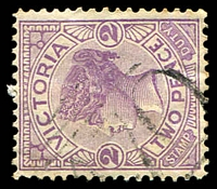 Lot 10969:1070: 'M70' on 2d violet. [Rated SS]  Allocated to Charlotte Plains-PO 13/7/1878; closed 1/7/1893.