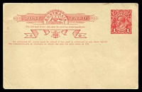 Lot 4112:1916-18 1d Red KGV Sideface Two-Line Admonition BW #P28 Die 2 Type 1, Cat $100. Unused.