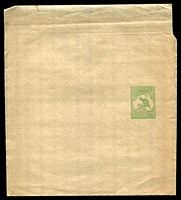 Lot 4404:1913-15 ½d Green Kangaroo BW #W1 fresh mint, Cat $75.