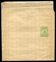 Lot 4299:1913-15 ½d Green Kangaroo BW #W1 fresh mint, Cat $75.