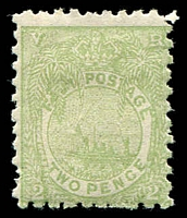 Lot 3916:1891-1902 New Design Perf 10 SG #78 2d pale green, Cat £140.