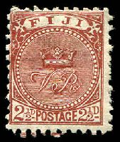 Lot 4020:1891-1902 New Design Perf 10 SG #79 2½d chocolate, Cat £60, small thin.