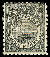 Lot 3426:1891-1902 New Designs Perf 11x10 SG #82 1d black, 15.