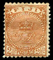 Lot 3717:1891-1902 New Designs Perf 11x11¾ SG #103a 2½d yellow-brown.