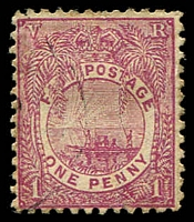 Lot 3716:1891-1902 New Designs Perf 11¾ SG #97 1d rosy mauve, part 'E' wmk.