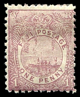 Lot 4025:1891-1902 New Designs Perf 11 SG #88 1d pale mauve.