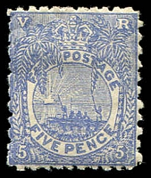 Lot 4022:1891-1902 New Designs Perf 11x10 SG #85 5d ultramarine, Cat £22.