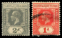 Lot 3546 [2 of 2]:1912-24 KGV Wmk Multi Crown CA SG #13-6,18-9 1d, 2d, 2½d, 3d, 5d & 6d, all CTO except 1d, Cat £72.