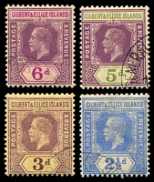 Lot 3546 [1 of 2]:1912-24 KGV Wmk Multi Crown CA SG #13-6,18-9 1d, 2d, 2½d, 3d, 5d & 6d, all CTO except 1d, Cat £72.