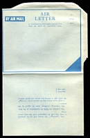 Lot 23291:1945? Forces Letter blue on buff stampless lettersheet, with Privilege statement on back. Fresh unused.
