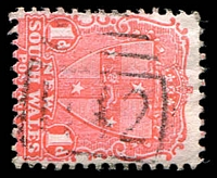 Lot 713:1142: '1142' BN on 1d 1d Arms. [Rated 2R]  Allocated to Bayview-PO 21/8/1882; closed 27/3/1971.