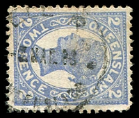 Lot 1490:Bell (2): - '[B]ELL R.S./?MAR08/[QUE]ENSLAND' on 2d 4-Corners. [Rated R]  Renamed from Bell R.S. PO 26/7/1907.