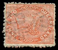 Lot 8004:23: on 1d 1st Sideface Die I.  Allocated to Bungeworgorai-PO 1/9/1861; replaced by Roma PO 31/12/1863.