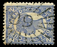 Lot 1057:89: rays on 2d 4-Corners. [Rated R]  Allocated to Westwood-PO 1/4/1861.
