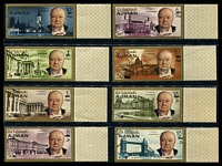 Lot 19685:1966 Churchill SG #79-86 set of 8.