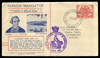 Lot 707:Royal Geographical Society 1946 176th Anniversary of Whitsunday Passage illustrated cover with Proserpine CDS of 9JE46.