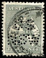 Lot 776:2d Grey - BW #5 perf 'OS/NSW'.