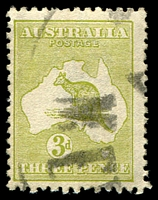 Lot 858:3d Olive Die II BW #13B yellow-olive shade, Cat $200.