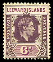 Lot 4364:1938-51 KGVI SG #109 6d deep dull purple & bright purple Chalk paper, old toned perf, typical brownish gum of this early issue, Cat £28.
