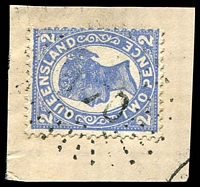 Lot 1529:170: '170' rays on 2d 4-Corners on piece. [Rated R]  Allocated to Maleny-RO 1/1/1889; PO c.-/2/1906.