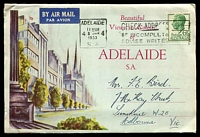 Lot 2089 [1 of 2]:Adelaide: - Beautiful Views wallet with 9 colour photos, posted from Adelaide in 1953.  PO 10/4/1837.