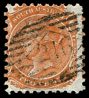 Lot 2085:216: on 2d orange DLR P10.  Allocated to Mallala-PO 1/4/1865.