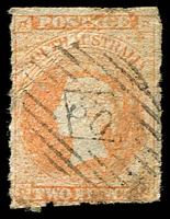 Lot 2079:30: on 2d pale vermilion PB roul.  Allocated to Tanunda-PO 8/11/1848.