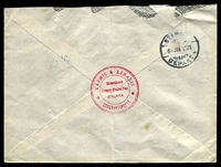 Lot 28463 [2 of 2]:1921 (Jul 6) us of 20pa, 1pi x2 & 5pi on cover from Galata to Manchester.