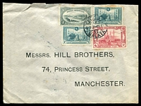 Lot 28463 [1 of 2]:1921 (Jul 6) us of 20pa, 1pi x2 & 5pi on cover from Galata to Manchester.