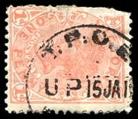 Lot 17641:English Mail T.P.O.: 'T.P.O.E/UP15JA1[?]/[VICTORIA]