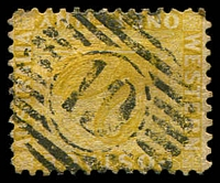 Lot 3412:19: on 1d ochre.  Allocated to Preston-PO c.-/11/1877; renamed Donnybrook PO 13/1/1898.