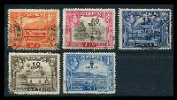 Lot 3208 [2 of 2]:1951 Surcharges SG #36-46 complete set of 11, Cat £38.