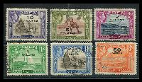 Lot 3208 [1 of 2]:1951 Surcharges SG #36-46 complete set of 11, Cat £38.