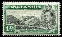 Lot 3221:1938-53 Pictorials SG #39 1d black & green P13½, Cat £45.
