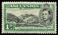 Lot 16610:1938-53 Pictorials SG #39 1d black & green P13½, Cat £45.