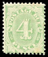 Lot 656:1902-04 Design Completed Wmk Crown/NSW BW #D28 4d emerald perf 11 Wmk upright, couple of tone spots, Cat $375.