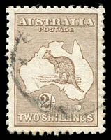 Lot 119:2/- Brown BW #36 well centred, odd lightly tone perf, Cat $350.