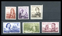 Lot 605:1963-66 Navigators BW #404-9 set of 6 simplified, Cat $213, small crease on £1.