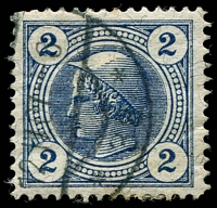 Lot 19110:1899 Mercury: SG #N122 2h blue with Private perforations.
