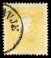 Lot 3310:1858-59 Franz Josef SG #22a 2k yellow, Type II, Cat £70, part '[ORASL]